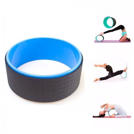 Anel Roda Pilates Flow Wheel Magic Circle Crossfit 32x13cm - Azul - Azul Esportes