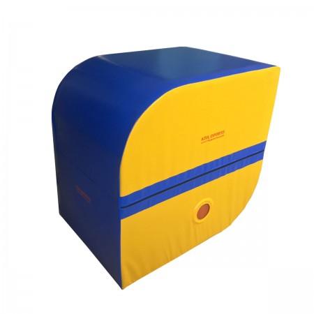 Colchão Spotter Ginástica Artística - 100 x 100 x 70 - Azul Esportes