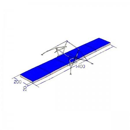 Conjunto Colchões Paralelas Assimétricas Ginástica Artística - Oficial - Azul Esportes