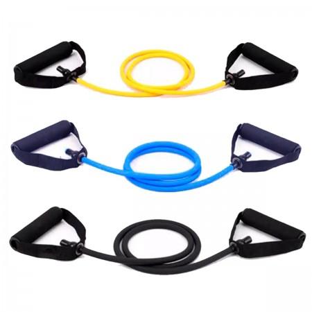 Kit Extensor Elástico Exercícios Ginástica Musculação Multifuncional - Azul Esportes