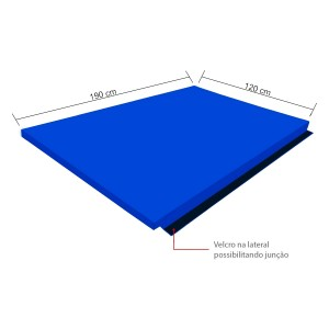 Colchão Sarneige AG100 - 190 x 120 x 6 cm  - Azul Esportes