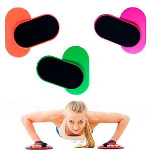Discos Deslizamento Treinamento Funcional Lombar - Azul Esportes