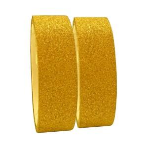 Fita Adesiva Glitter Dourada - Kit c/ 2 unidades - Azul Esportes