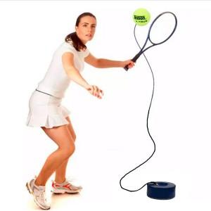 Bola Com Base e Elástico para Treinamento para Tênis de Campo – Azul Esportes