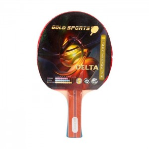 Raquete Tênis De Mesa Treino 3 Stars - Delta - Gold Sports