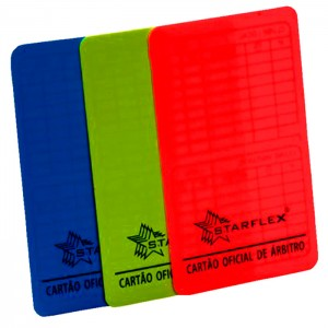 Cartão Oficial para Árbitro Futsal - StarFlex