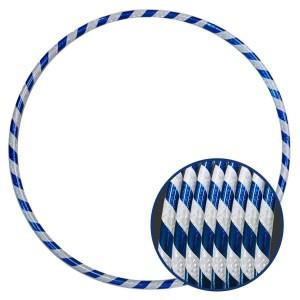 Arco Ginástica Rítmica Oficial 85cm - Fita 3D - Branco e Azul - Azul Esportes
