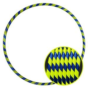 Arco Ginástica Rítmica Oficial 78cm - Fita 3D - Azul e Verde Limão - Azul Esportes