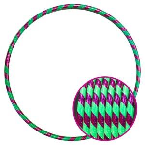Arco Ginástica Rítmica Oficial 85cm - Fita 3D - Lilás e Verde - Azul Esportes