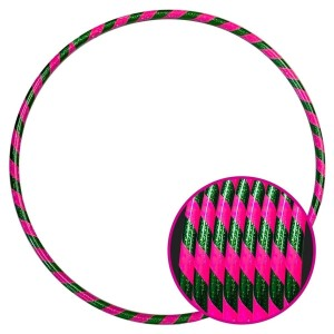 Arco Ginástica Rítmica Oficial 85cm - Fita 3D - Verde e Rosa - Azul Esportes