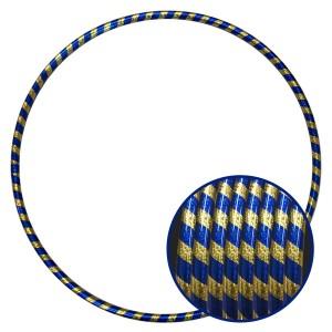 Arco Ginástica Rítmica Oficial 78cm - Fita Holográfica - Dourado e Azul - Azul Esportes