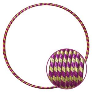Arco Ginástica Rítmica Oficial 78cm - Fita Holográfica - Dourado e Pink - Azul Esportes