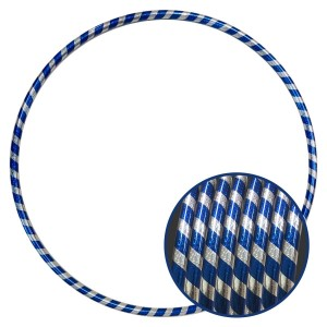 Arco Ginástica Rítmica Oficial 85cm - Fita Holográfica - Prata e Azul - Azul Esportes