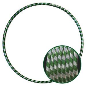 Arco Ginástica Rítmica Oficial 85cm - Fita Holográfica - Prata e Verde - Azul Esportes