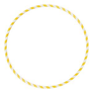 Arco Ginástica Rítmica Oficial 78cm - Amarelo - Azul Esportes