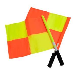 Bandeira Árbitro Assistente Quadriculada - Par - Azul Esportes