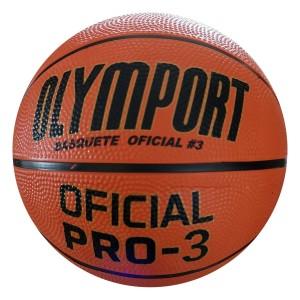 Bola Basquete Borracha - Oficial Pro 3 - Olymport