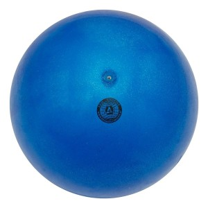 Bola Ginástica Rítmica 400g - Glitter Azul - Azul Esportes