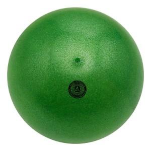 Bola Ginástica Rítmica 400g - Glitter Verde Bandeira - Azul Esportes