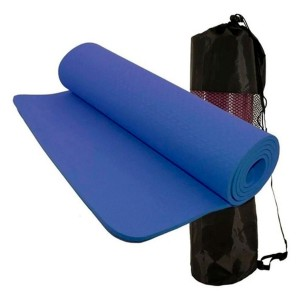 Colchonete Tapete Para Exercício Funcional Yoga - Azul Esportes