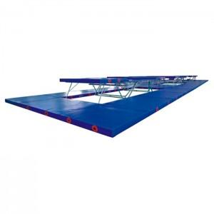 Conjunto Colchões Trampolim Acrobático Ginástica Artística - Azul Esporte