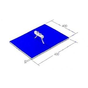 Conjunto Colchões Cavalo com Alças Ginástica Artística - Oficial - Azul Esportes