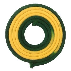 Corda Ginástica Rítmica 3m - Verde e Amarela - Azul Esportes