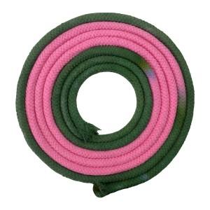 Corda Ginástica Rítmica 3m - Verde e Rosa - Azul Esportes