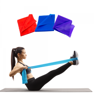 Kit 3 Faixas Elastica 1.2m - Azul Esportes