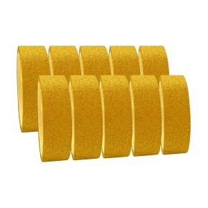 Fita Adesiva Glitter Dourada - Kit c/ 10 unidades - Azul Esportes