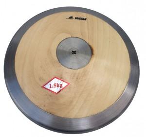 Disco Atletismo Aço/Madeira 1,5kg - Feilu Taishan