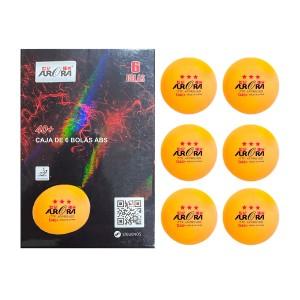Bola Tênis de Mesa 3 estrelas - 6 unidades - Laranja - ITTF - Aurora
