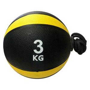 Medicine Ball Com Corda 3kg - Azul Esportes