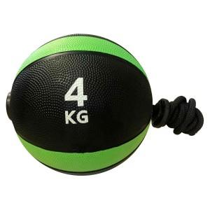 Medicine Ball Com Corda 4kg - Azul Esportes