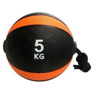 Medicine Ball Com Corda 5kg - Azul Esportes
