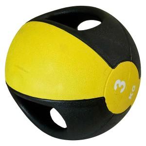 Medicine Ball Com Pegada 3kg - Azul Esportes