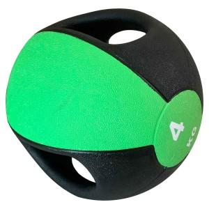 Medicine Ball Com Pegada 4kg - Azul Esportes