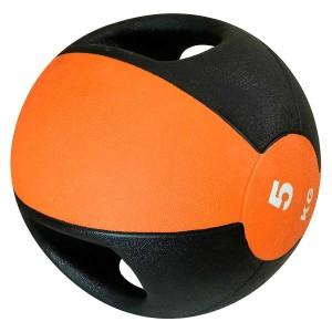 Medicine Ball Com Pegada 5kg - Azul Esportes