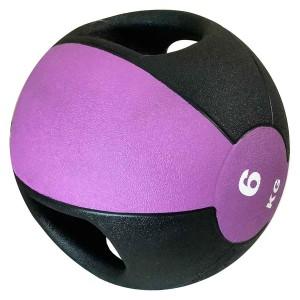 Medicine Ball Com Pegada 6kg - Azul Esportes