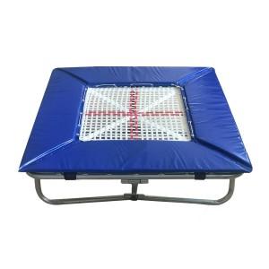 Mini Trampolim 60 x 60 cm Ginástica Artística - Azul Esportes