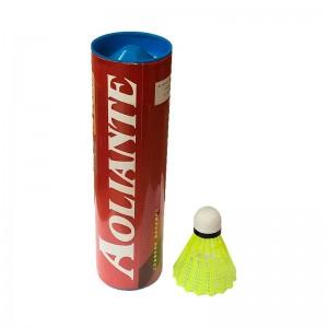 Peteca Badminton Nylon Amarela - Kit c/ 6 - Aoliante