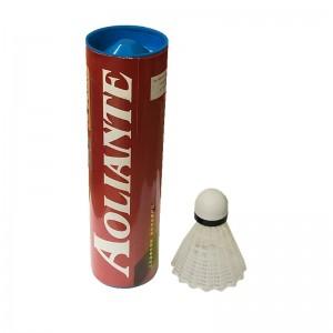 Peteca Badminton Nylon Branca - Kit c/ 6 - Aoliante