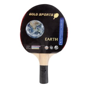 Raquete Tênis De Mesa Treino 2 Stars - Earth - Gold Sports
