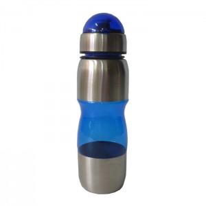 Squeeze Acrílico com Inox - 600 ml - Azul