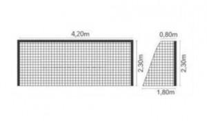 Rede Futebol Society Nylon 2mm - 4 metros - Pangué